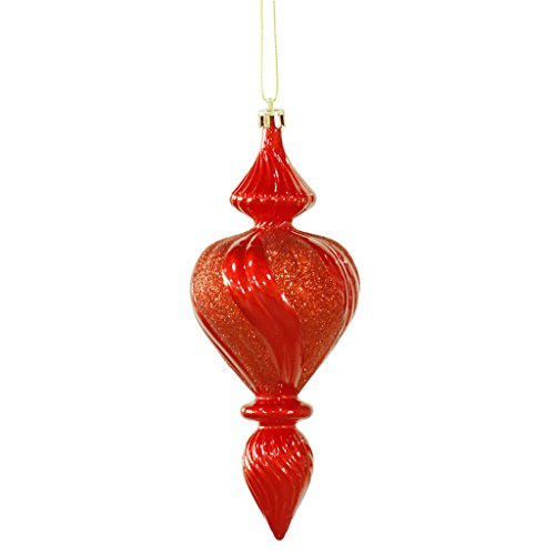 Vickerman 28537 – 7″ Red Candy Finish Finial Christmas Tree Ornament (3 pack) (M122803)