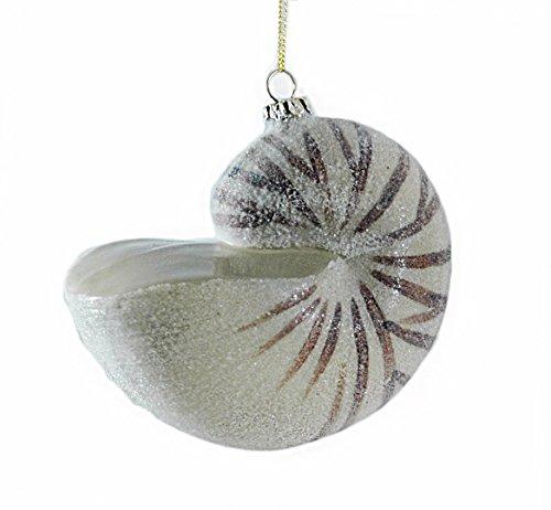 Nautilus Glitter Seashell Ornament