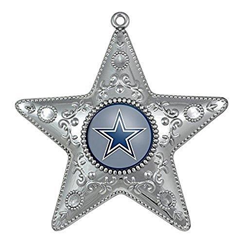 NFL Licensed Silver Star Ornament (Dallas Cowboys)