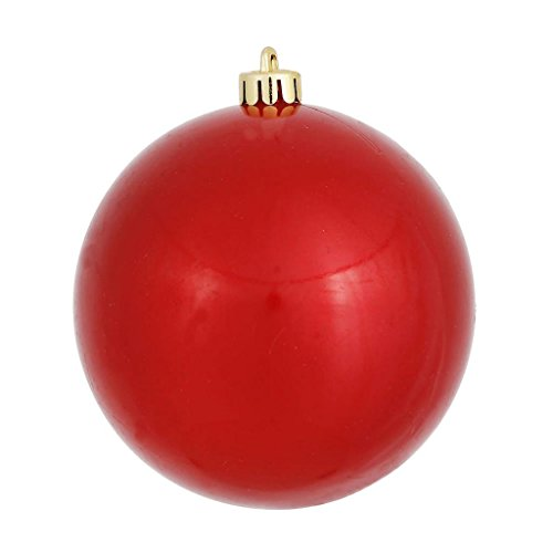 Vickerman 393925 – 6″ Red Candy Ball Christmas Tree Ornament (4 pack) (N591503DCV)