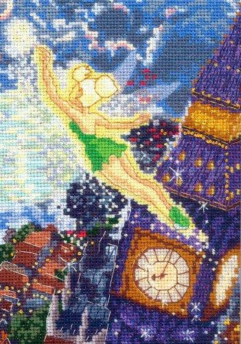 MCG Textiles Disney Dreams Collection By Thomas Kinkade Tinker Bell Vignette 5×7  18 Count