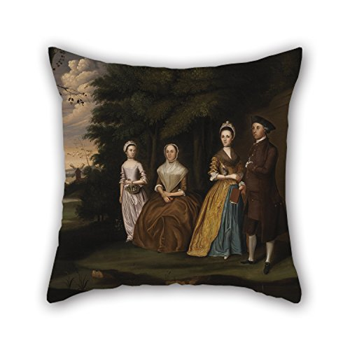 Slimmingpiggy 20 X 20 Inches / 50 By 50 Cm Oil Painting William Williams – The Wiley Family Throw Pillow Case ,two Sides Ornament And Gift To Saloon,boys,family,relatives,couples,kids Room