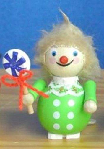 Steinbach Boy with Lollipop German Wooden Christmas Ornament