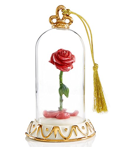 Lenox Disney Beauty And The Beast Rose Ornament Enchanted Valentine