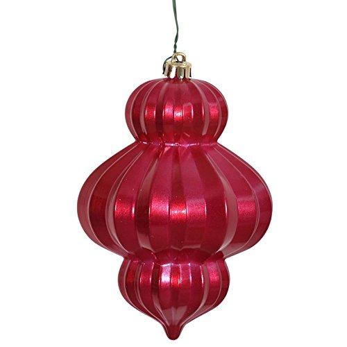 Vickerman 6 in. Candy Lantern Finial Ornament – Set of 3
