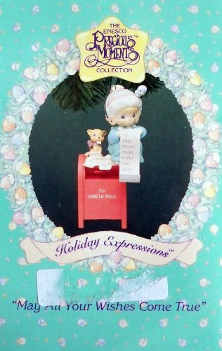 Precious Moments May All Your Wishes Come True Christmas Ornament