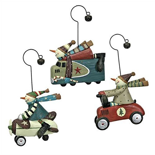 Williraye Studio Snowman Racer Ornaments – Set of 3