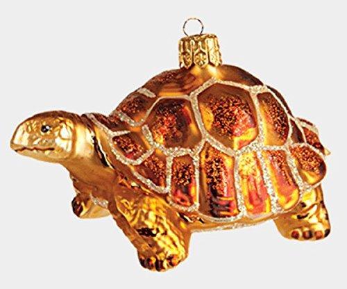 Galapagos Tortoise Polish Glass Christmas Tree Ornament Animal Wildlife Reptile