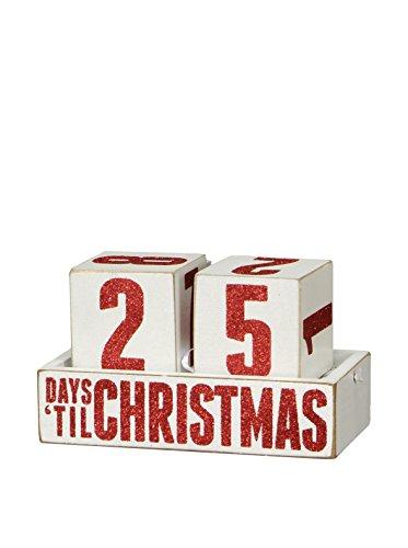 Box Sign Days Til Christmas Countdown Blocks Wooden Calendar