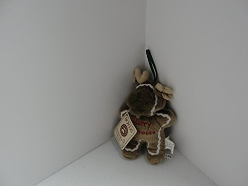 Boyds Bears Plush Ornament Gingerbread Bear Merry Kissmoose