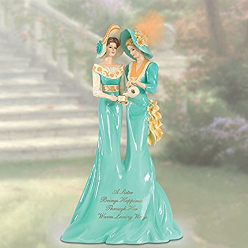 The Bradford Exchange A Sister Brings Happiness Through Her Warm Loving Ways Figurine Collection By Thomas Kinkade