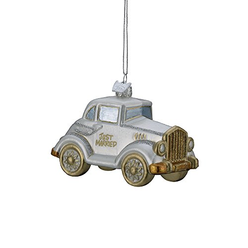 Kurt Adler 4.5″ Noble Gems Glass Wedding Car Ornament