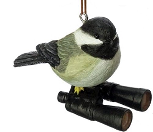 Midwest CBK Chickadee on Binoculars Christmas Ornament