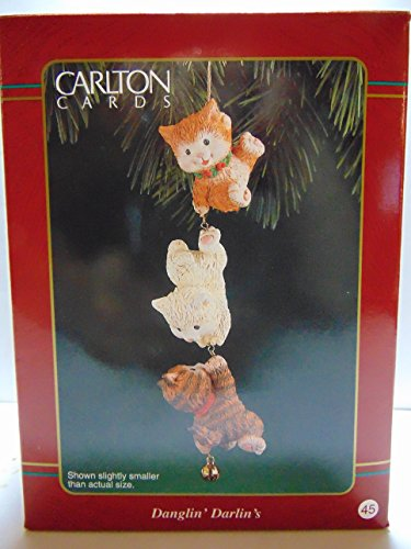 Carlton Cards, DANGLIN' DARLIN'S KITTEN Ornament, from Heirloom Ornament Collection