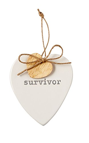Survivor Heart Sentiment American Cancer Society Ornament