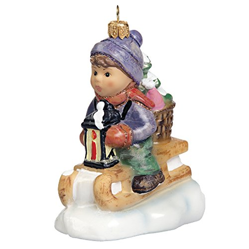 M.I. Hummel Ride Into Christmas Glass Ornament