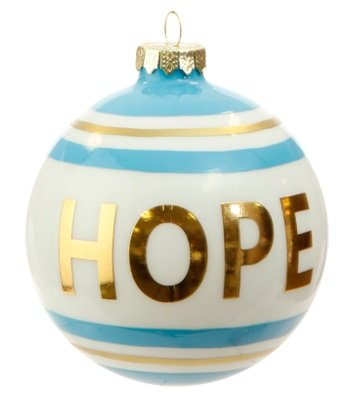RAZ Imports – 4″ Message Ball Christmas Ornaments (Hope)