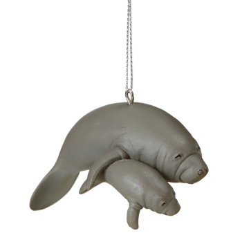Midwest-CBK Manatee and Baby Ornament