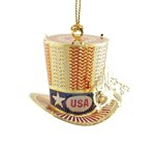 ChemArt 2.25″ Collectible Keepsakes Uncle Sam's Hat Christmas Ornament