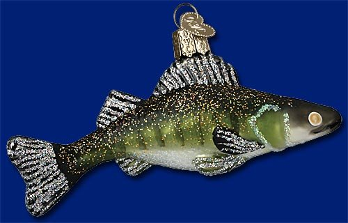 Glass Walleye Christmas Ornament by Old World Christmas