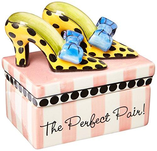Appletree Design Sugar High Social Heels Shoe Trinket Box, 3-3/8-Inch Tall