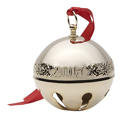 Wallace 2017 Gold Plated Sleigh Bell Ornament, 28th Edition