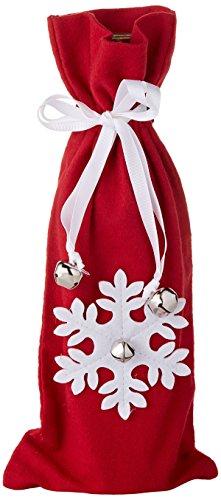 Sage & Co. XAF16210RW 14″ Wool Snowflake Wine Bag