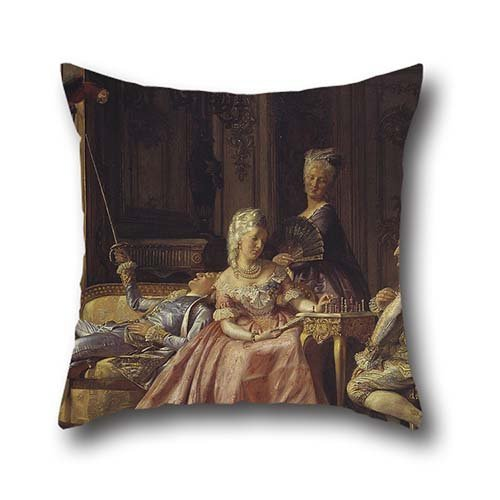 20 X 20 Inches / 50 By 50 Cm Oil Painting Kristian Zahrtmann – Scene From The Court Of Christian VII Pillow Covers ,twin Sides Ornament And Gift To Wife,bench,dining Room,deck Chair,him,couples