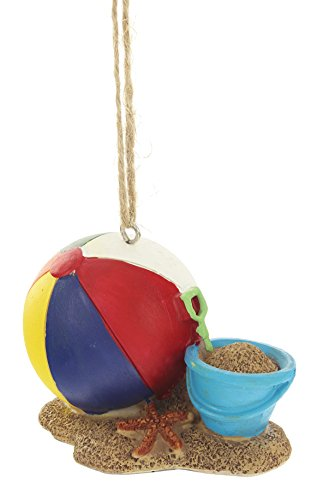 MidWest 3″ x 2.5″ x 2″ Beach Ball and Sand Bucket Christmas Ornament