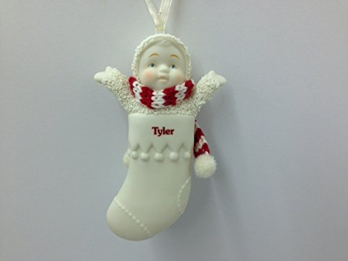 Snowbabies Personalized Name Christmas Stocking Ornament – Tyler – 3.25″