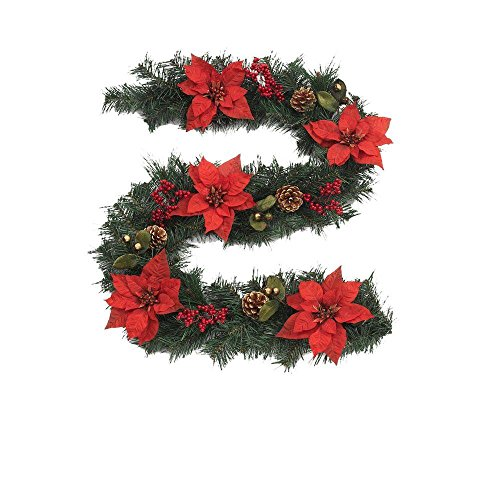 6 ft. Unlit Winterberry Artificial Garland
