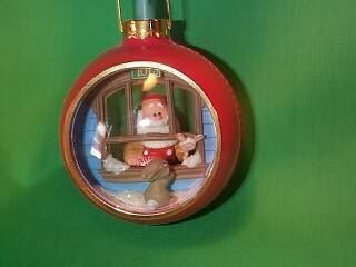 "Hallmark 1984 Santa""s Workshop Lighted Ornament QLX7004"