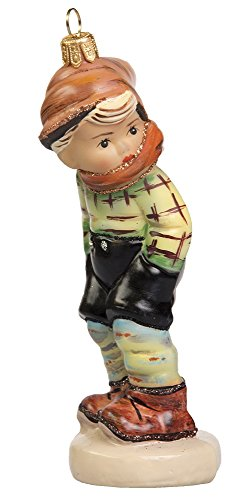 M.I. Hummel March Winds Boy with Scarf Polish Glass Christmas Tree Ornament