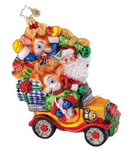 Christopher Radko Christmas Ornament Reindeer Roadster