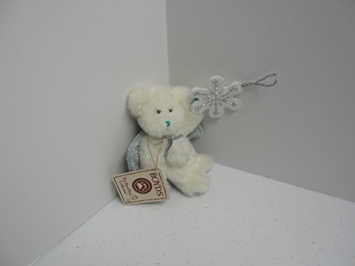 Let it Snow Dangling White Angel Plush Bear-Boyds Bears Ornament #562928