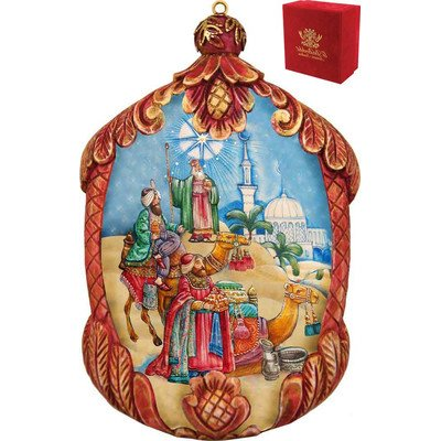 G. Debrekht Three Kings Ornament, 3.5″
