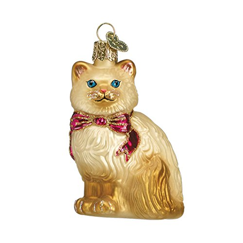Old World Christmas Himalayan Kitty Glass Blown Ornament