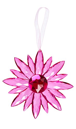 Flower Small Crystal Expressions 7 Inch Acrylic Hanging Jewel Ornament – Hot Pink