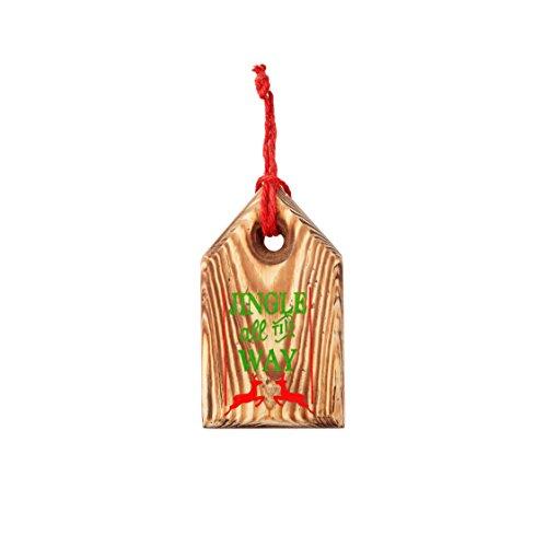 Sage & Co. XAO19945NA Wood Jingle Tag Ornament (12 Pack)
