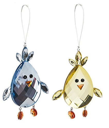 Crystal Expressions by Ganz – Acrylic Chick Ornaments