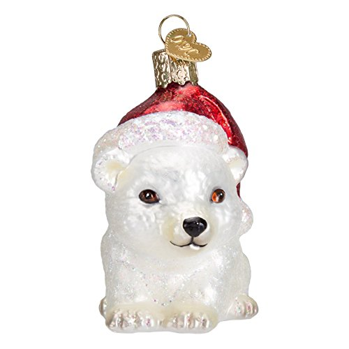 Old World Christmas 12449 Polar Bear Glass Blown Ornament Christmas Polar Bear