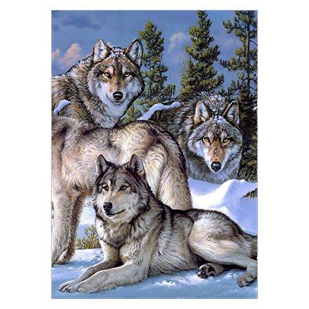 Wolf Pack Outdoor Garden Mini Yard Decoration Flag 13″ x 18.5″