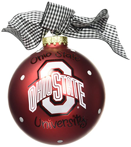 Coton Colors Ohio State Logo Glass Ornament