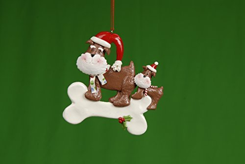 Claydough Dog Bone Christmas Ornament