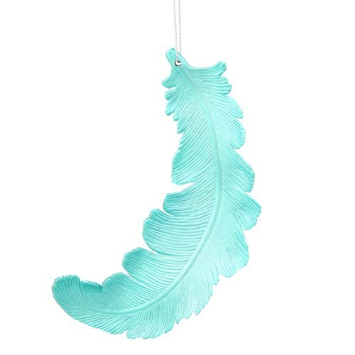 6ct Matte Turquoise Blue Feather Shatterproof Christmas Ornaments 6 by Vickerman