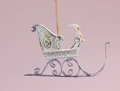 Patience Brewster Mini Moonbeam Sleigh Christmas Ornament 31246