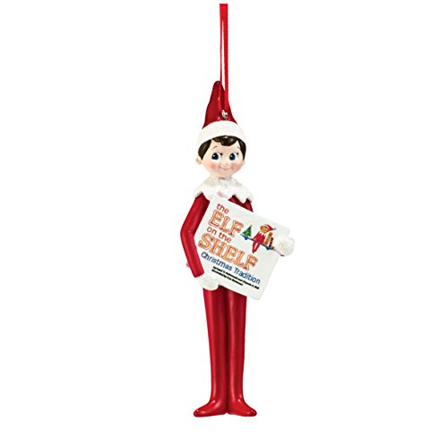 Department 56 Elf on The Shelf From Elf Reading Ornament 5 In