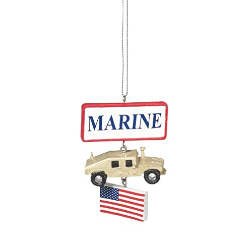 Marine Convoy Cruiser Resin Stone Military Christmas Ornament