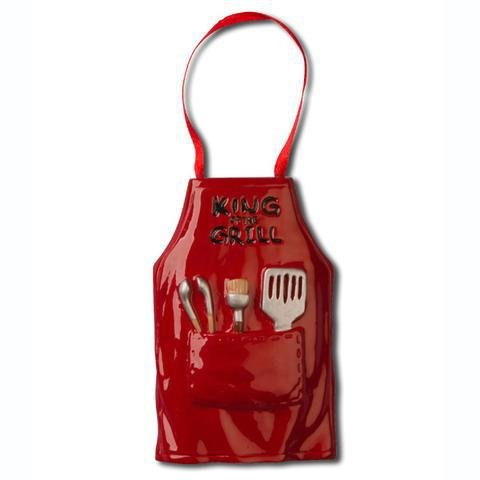 King of the Grill Apron Personalized Christmas Tree Ornament