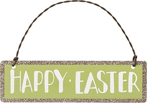 PBK Easter Decor – Happy Easter Glitter Tin Ornament Sign